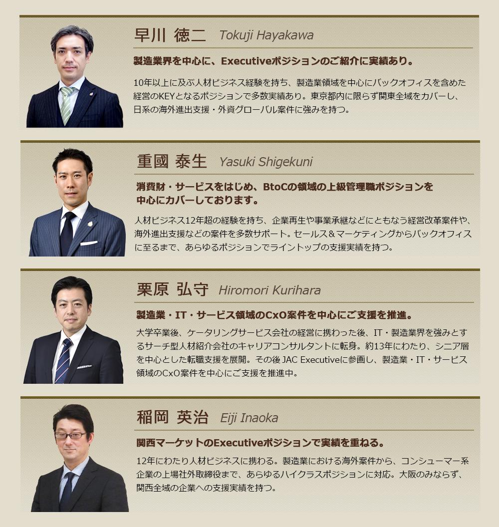 コンサルタント紹介(一例)